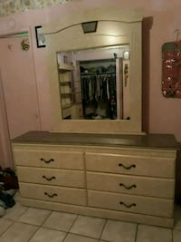 Matching set, bedframe and dresser with mirror  Victorville