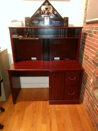 office or collage desk.great condition cherry in color chair included.