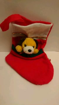 Christmas Stocking with Attached Puppy Rosemead, 91770