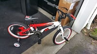 red and white BMX bike