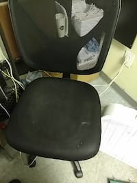 black leather office rolling chair Vienna, 22182