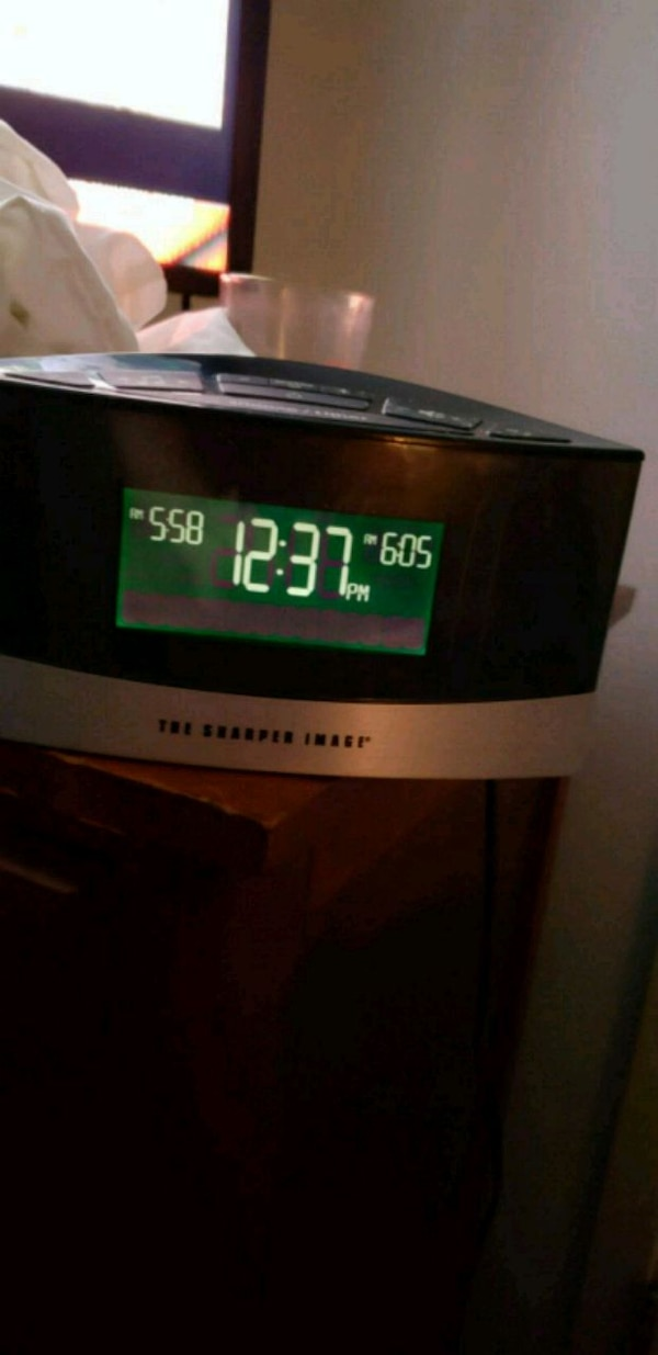 Used Alarm Clock Sound Scape Sharper Image For Sale In Merrick Letgo