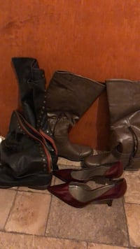 pair of black leather boots Washington, 20017