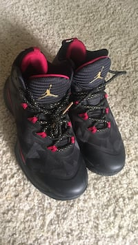 Pair of black-and-pink nike basketball shoes Los Angeles, 90045