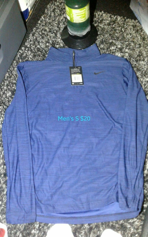 blue Nike sweater