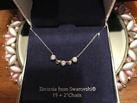 Beautiful Silver Heart & Swarovski Crystal necklace Gainesville, 20155