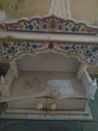 white wooden framed white and pink floral bed Mira Bhayandar, 401107