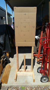 Target Stand Base with 2-6' Foot Uprights and Target.
