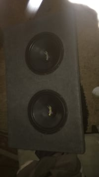 black and gray subwoofer speaker Surrey, V3V