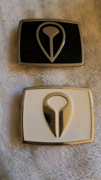 two black and gray stainless steel belt buckles Calgary, T2W 2T6