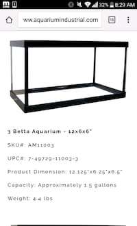 rectangular black framed glass pet tank screenshot Los Angeles, 90006