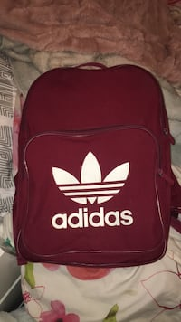red and white Adidas backpack Waterloo, N2L 3Z6