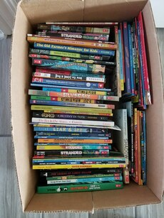 55+ Kids / pre-teen books and comics