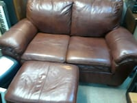 All leather loveseat and ottoman Fremont, 94539