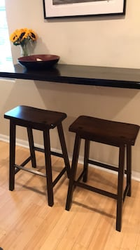 two black wooden bar stools Washington, 20002