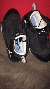 Pair of black-and-white air jordan shoes Winnipeg