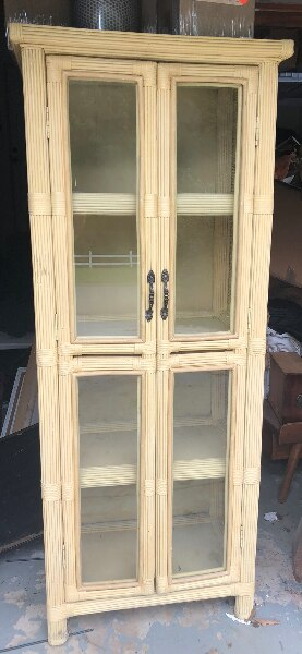 Awesome Vintage Wicker Rattan Cabinet