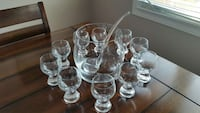 New Glass Punch Bowl Set w/ Glass Ladel Kitchener, N2E 4C7