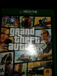 Grand Theft Auto Five Xbox one game case Los Angeles