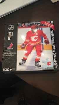 Jerome iginla nhl poster jigsaw puzzle box Calgary, T2Y