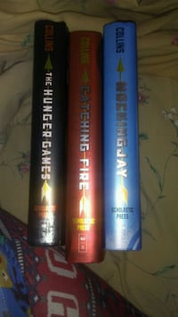 the Hunger Games trilogy by Suzanne Collins book s