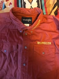 red Wrangler button up polo shirt Kingman, 86401
