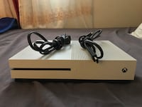 White xbox one game console