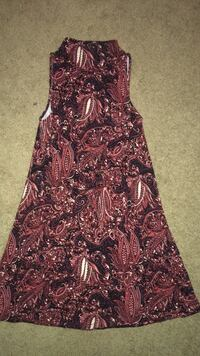 women's red and black floral sleeveless dress Hull, 30646