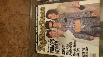 ROLLING STONE MAGAZINE #472 APRIL 1986 PRINCE - WENDY & LISA