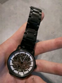 round silver-colored chronograph watch with link bracelet Ottawa, K2P 1N3