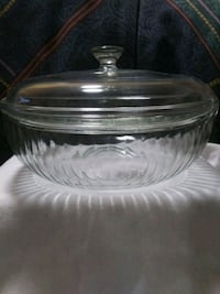 Pyrex baking dish with lid vintage 1930s to 1950 Hugo, 55038