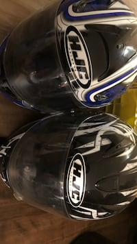 2 HJC helmets great condition can sell separate. Black XXL, has visor blue medium Edmonton, T5X 3R1