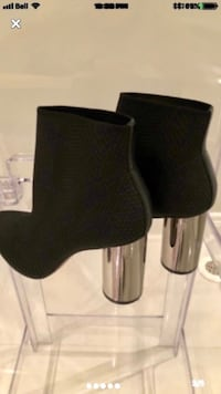 ZARA black fabric ankle Boot. Size 7. WORN ONCE.  Vaughan