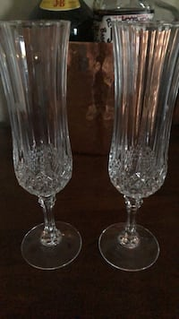Real Crystal Champagne Glasses  Centreville, 20120