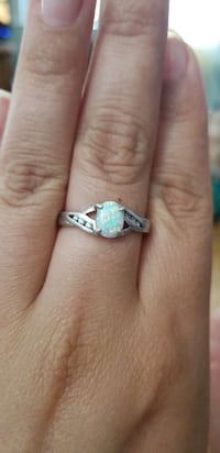 White opal and diamond silver ring Perris, 92570