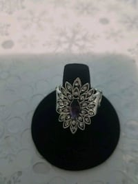 black and silver floral ring Roanoke, 24013
