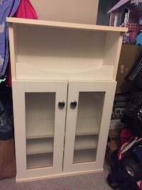White wooden wall mount cabinet