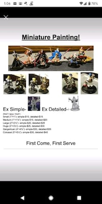 Miniature Painting Services