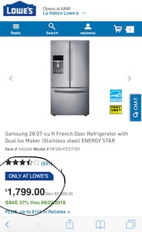 gray LG french door refrigerator screenshot Buena Park, 90621