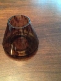 Brown glass candle shade. Partylite Quinte West, K8V