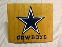 Hand painted Dallas Cowboys logo on wood  Lincoln, L0R
