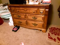brown wooden 3-drawer chest Oklahoma City, 73149