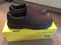 pair of black leather slip-on shoes with box San Jose, 95118