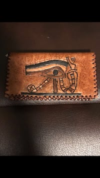 Brown and black natural leather wallet Ottawa, K1T