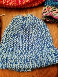 blue and white knit cap Tulsa, 74132