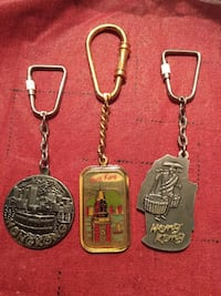 Several assorted-color heavy Hong Kong keychains York, 17404