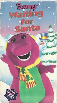 Barney Waiting For Santa Sing Along Ages 1-8 vhs   vhs tested and play