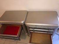 two gray and red wooden tables North Lauderdale, 33068
