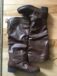 XOXO Brown Tall Boots size 6.5 womens Bangor, 04401