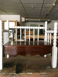Bed bench, solid wood and walnut seat Citronelle, 36522
